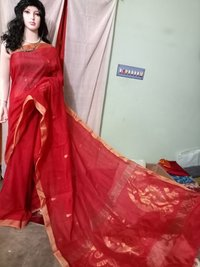Traditional Silk Cotton Hand Jamdani Sarees
