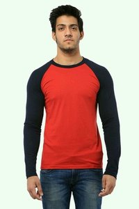 Red Colour Full Sleeve T Shirts