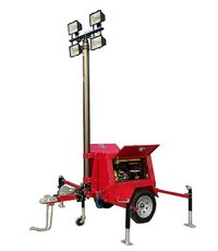 Lamps Mounted Diesel Generator Set Mobile Light Tower