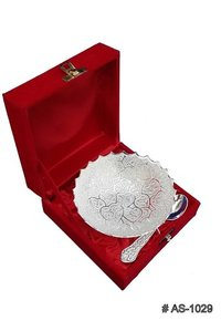 Silver Plated Heart Bowls Gift Set