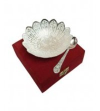 5 Inches Silver Plated Bowls Gift Set
