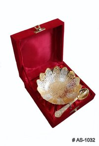 5 Inches Silver Plated And Gold Plated Kamal Bowls Set