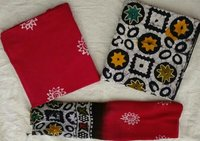 Traditional Cotton Suits With Chiffon Dupattas