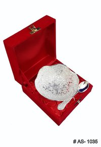 Silver Curved Shape Bowls Gift Set