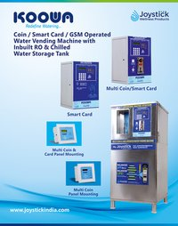 Multi Coin And Card Operated Water Vending Machines