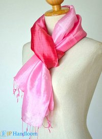 Pink Red Tie Dyed Silk Scarves