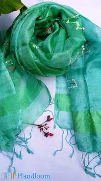 Unique Green Mulberry Silk Scarves
