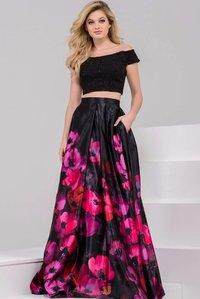 Designer Black And Magenta Indo Western Style Lehenga Choli