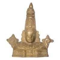 Swayambhu Brass Balaji Wall Hanging 16 cm