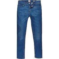 Navy Blue Color Mens Designer Jeans