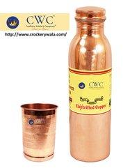 Fanta Design Copper Bottle With 1 Glass Tumbler