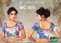 Ladies Sublimated Readymade Blouse