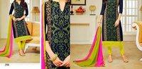 Ladies Semi Stitched Cotton Salwar Suit