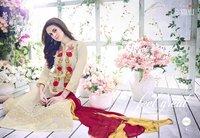 Organic Color Blooms Cotton Semi Stitched Salwar Suit