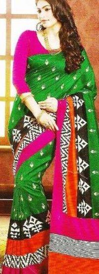 Bagalpuri Cotton Silk Saree Embroidered