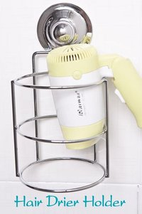 Hair Drier Holder With Suction Cup