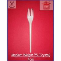 Medium Weight Polystyrene (Crystal) Fork - New