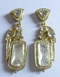 22k Yellow Gold Diamond Earring