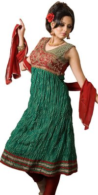 Dark Green Anarkhali Salwar Suit
