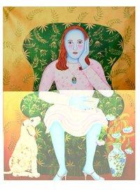 Sitting Lady Painting