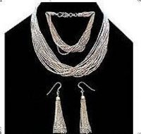Trendy Sterling Silver Necklace Set