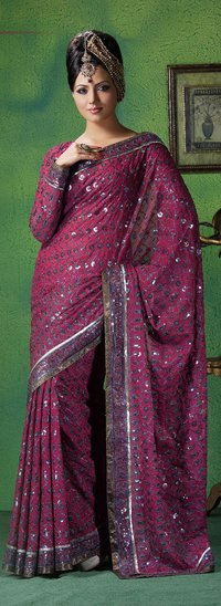 Net Type Synthetic Sarees