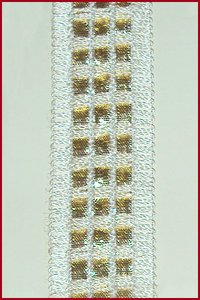 Golden White-3 Line Lace