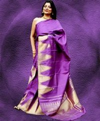 Purple Kanjeevaram Saree