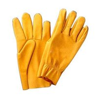 Yellow Fine Leather Driving Glove