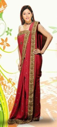 Hand Crafted Border Sarees
