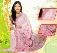 Handcrafted Pink Color Sarees
