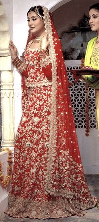Hot Red Bridal Wear
