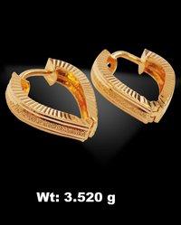 Heart Shape Gold Earrings