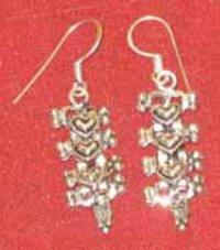 Ladies Silver Earrings