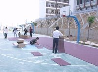 Suspended Interlock Plastic Sports Flooring