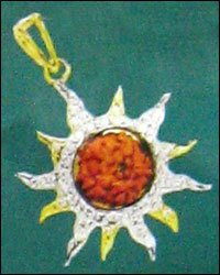 Cz Gold Pendant