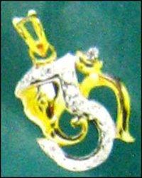 Designer Cz Gold Pendant