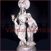 Radha Krishana Silver Statue