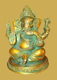 Ganesh Sitting On Round Base