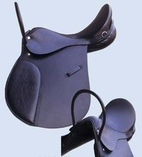 Jumping Saddle With Leather Handle On Front
