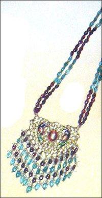 Kundan Meena With Different Stones Necklace