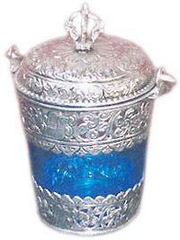 Glass & Metal Ice Box