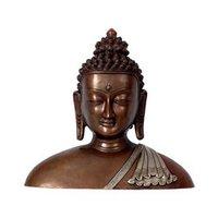Buddha Face Brass Idol