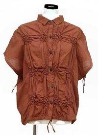 Ladies Plain Dye Cotton Blouse
