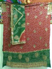 Jamnagri Rai Bandhej Print Salwar Suit