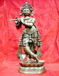 Krishan Ji Brass Sculpture