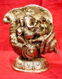 Ganesh Ji Brass Sculpture