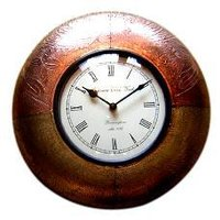 Hand Embossed Clocks With Metal Finish