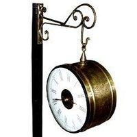 Railway Clock With Designer Hanging Stand