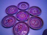 Pooja Thali Decorated Plain